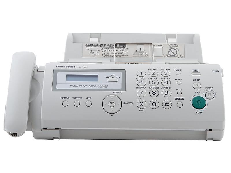 Ulmart факс panasonic kx-fp207ru