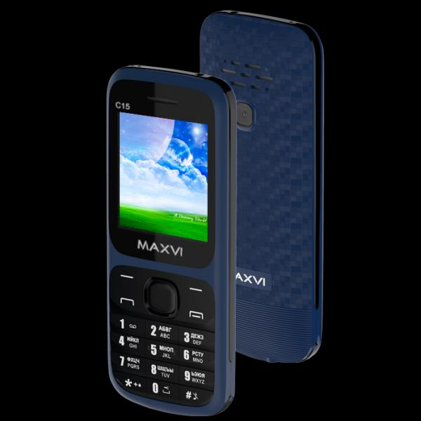 Телефон MAXVI C15 Black-Blue